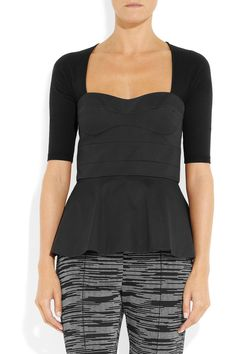 M Missoni|Stretch-cotton and wool-blend bustier top|NET-A-PORTER.COM