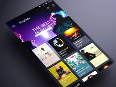 Android music App Material design Playlists