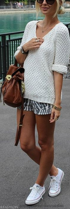 Street style...you can never go wrong with Chuck Taylors :-)