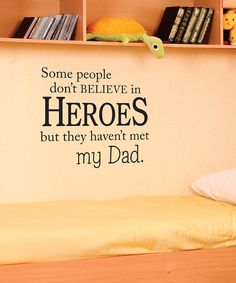 Belvedere Designs Black Hero Dad Wall Quote