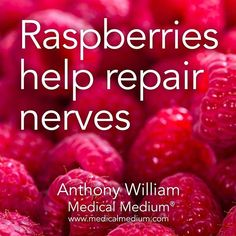 Raspberries help repair nerves Learn more about the healing power of raspberries in Life-Changing Foods, link in profile