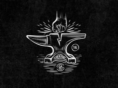 Anvil - No type designed by Mathias Temmen. Wolf Tattoos, Body Art Tattoos, Mundo Tattoo, Greek Drawing, Hammer Tattoo, Dessin Old School, Design Art, Logo Design, Traditional Tattoo Art
