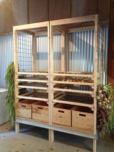 Ultimate vegetable storage! potatoes, onions, garlic, squash,cabbage, beets, more. Happy harvest year!