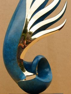 Bronze Modern Abstract Contemporary Avant Garde Sculptures or Statues or statuettes or statuary sculpture by sculptor Charlie Westgarth titled: 'Ascent (Contemporary Modern Bronze Indoor statue)' - Artwork View 3