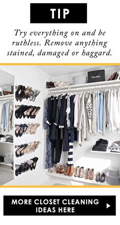 closet cleaning