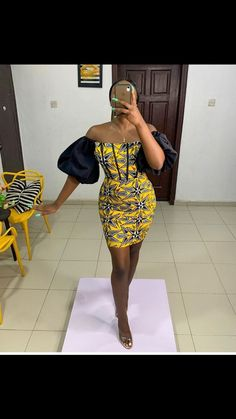 Short African Dresses, African Inspired Fashion, Latest African Fashion Dresses, African Print Dresses, African Print Fashion, Short Dresses, Ankara Dress Designs, African Print Clothing, Look Girl