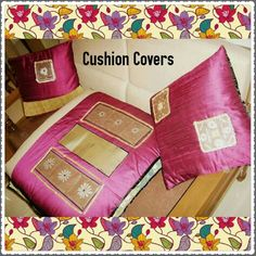 TITLE : Pink Raw Silk.MEDIUM : Ink and Motif work on Composite Leather. #MeghnaCreations #creations #cushioncovers #rawsilk #chatttai #leather #inked #motifwork #turnyour #beds #couches #chairs #into #piecesofart  #withthese #vibrant #pink #exclusivelydesigned #sizesandcolors #customized #gift #gifting #mumbai #pintrest