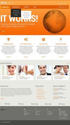Marketing Agency Responsive Website Template New Screenshots BIG
