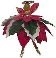 Poinsettia Angel Ornament