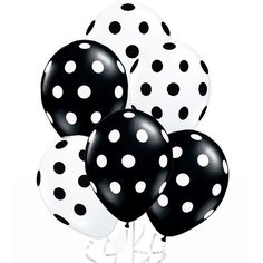 Amazon.com: 24 Assorted Black and White Polka Dot Balloons!: Kitchen &... ($7.49) ❤ liked on Polyvore featuring home and kitchen & dining