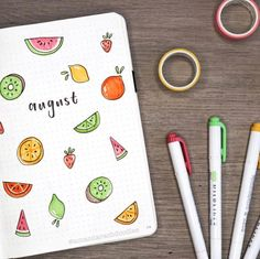 journal ideas for work august is lookin' juicy! 🍋🍉🥝🍓 my plan with me + bullet journal set. august is lookin' juicy! 🍋🍉🥝🍓 my plan with me + bullet journal setup video is live on my channel! link is in my bio! Bullet Journal August, Bullet Journal Cover Ideas, Bullet Journal Notebook, Bullet Journal Spread, Bullet Journals, Bullet Journal Calendar Ideas, Monthly Bullet Journal Layout, Journal Covers, Bullet Journal Lettering