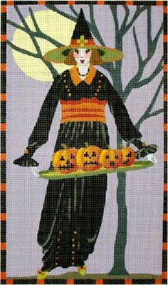 Melissa Shirley Designs | Hand Painted Needlepoint | Witches