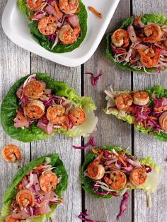 These easy to make, light and healthy shrimp lettuce wraps will impress your guests and leave them craving for more! Shrimp Lettuce Wraps, Lettuce Wrap Recipes, Shrimp Tacos, Seafood Recipes, Cooking Recipes, Healthy Recipes, Recipes Dinner, Brunch Recipes, Quinoa