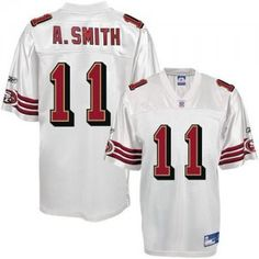 66b73f670  25.00 NFL Jersey San Francisco 49Ers Alex Smith  11 White