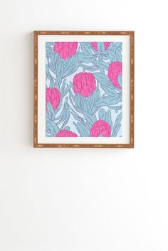 Evgenia Chuvardina King Protea Framed Wall Art   DENY Designs Home Accessories