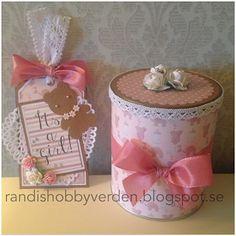 Randis hobbyverden: Gavesett til baby i rosa og brunt