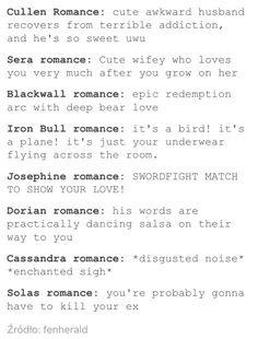 DAI romances