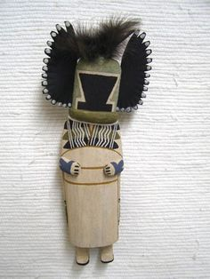 Old Style Hopi Carved Crow Mother Traditional Katsina Doll by Raynard Lalo