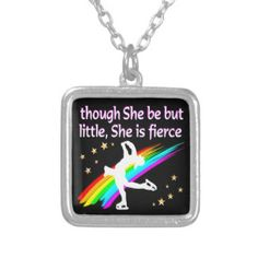 TERRIFIC AND TALENTED FIGURE SKATER SQUARE PENDANT NECKLACE Beautiful figure skating jewelry for your Ice Princess. http://www.zazzle.com/mysportsstar/gifts?cg=196621838645756107&rf=238246180177746410 #figureskating #Figureskater #Figureskatinggifts #BorntoSkate #Loveskating #Skatingjewelry #Skaterjewelry