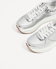 Image 4 of SILVER PLATFORM SNEAKERS from Zara