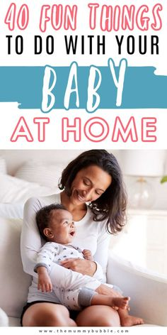 Baby play ideas to keep your little one entertained at home! Inspiration for baby activities that will help to develop their skills and coordination while having fun #babytips Bonding Activities, Fun Activities To Do, Infant Activities, Babies First Year, First Baby, New Parents, New Moms, Kids And Parenting, Parenting Hacks