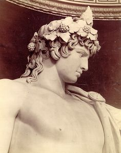 Vintage photo of Antinous as Bacchus Statue by Mamluke, via Flickr