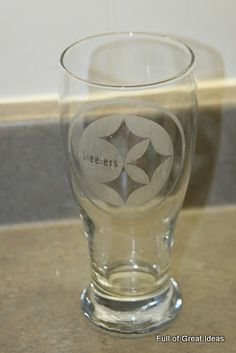 How to make Sports Team (or anything really) Etched Glasses