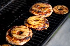 Grilled pineapple turkey burgers - substitute chicken or steak for turkey burgers
