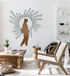 Wandtattoo - WOMAN IN LIGTH   Wall Art Wandsticker VinylART - ein Designerstück von UrbanARTBerlin bei DaWanda