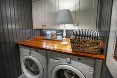 """What I wouldn't give to have a well organized laundry room and space to fold laundry and stack ironing,"" shares Rose Pellar on the HGTV Pinterest Board. ""This laundry room seems to fit the bill."""