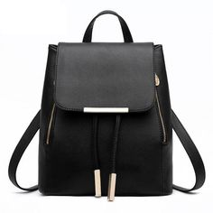 Reminisce the good ol' school days with this leather backpack designed for stylish women. Available in numerous fun colors, the backpack can liven up any outfit - from dainty to glam rock to grunge lo