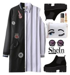 """SheIn ~ Black&White~"" by gabygirafe ❤ liked on Polyvore featuring Yves Saint Laurent and NARS Cosmetics"