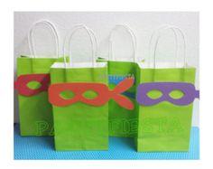 Inspired Teenage Mutant Ninja Turtles Treat goody bags Party Birthday TMNT