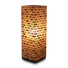 Looks like a brick wall....Find it at the Foundary - Valentti Square Table Lamp - 8 x 8 x 25 in.