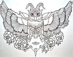 Cool owl tattoo design. #tattoo #tattoos #ink