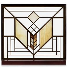 SOURCE: SIGNALS.COM / FRANK LLOYD WRIGHT ART GLASS PANEL - LAKE GENEVA - From the Lake Geneva Inn (1911) in Wisconsin.