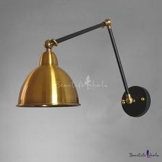 Shining Brass 1 Light Adjustable LED Wall Sconce