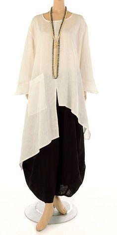 Champagne Ecru Linen Asymmetric Tunic Tunic Asymmetric Champagne Ecru Flax - Champagne from idaretob Hijab Fashion, Boho Fashion, Fashion Dresses, Womens Fashion, Fashion Design, Mode Cool, Linen Tunic, Mode Hijab, Mode Inspiration