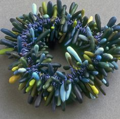 Cynthia Toops, Anemone Bracelet – polymer clay..........no animals killed either.