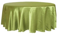 "90"" Round Satin Seamless Tablecloth - Moss Green(1pc/pk) $7.35"