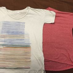 2- 'Boyfriend' style Tees Soft, flowing, oversized fit. Excellent condition. Old Navy Tops Tees - Short Sleeve