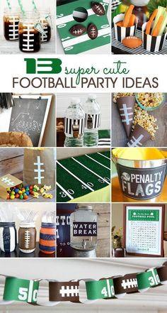Here in Denver, we have the Super Bowl on the brain! GO BRONCOS! But even if you're not a Broncos fan {or a fan of that otherteam}, I know that many of you will be Football Draft Party, Football Banquet, Football Tailgate, Football Themes, Football Birthday, Football Fans, Football Season, Football Humor, Superbowl Decor
