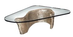 Buy Abstract Bronze and Glass Coffee Table from Craig Van Den Brulle on Dering Hall