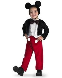 Disney Mickey Mouse Deluxe Toddler / Child Costume A Deluxe Mickey Mouse costume! The perfect costume for any occasion! The Mickey Mouse Deluxe costume includes a soft bodysuit with Mickey Mouse Halloween Costume, Mickey Mouse Dress, Toddler Halloween Costumes, Boy Costumes, Halloween Fancy Dress, Halloween Kids, Costume Ideas, Scary Costumes, Movie Costumes