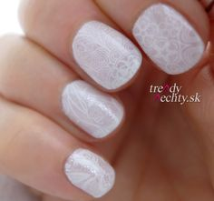 winter manicure, White manicure, Nail Art, Nail design