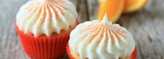 Lovely orange cupcake with frosting!