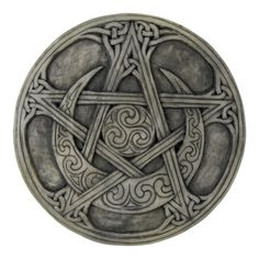 Moon Pentacle Plaque 6 3/8 inch