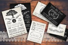 Rustic Wedding Invitation Pack by Knotted Design on @creativemarket