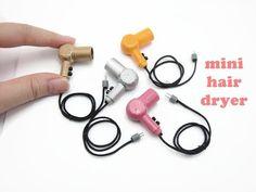 DIY Miniature Doll Mini Hair Dryer - Easy! - YouTube