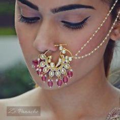 Nosering – Page 2 – zepanache Nath Nose Ring, Bridal Nose Ring, Nose Rings, Wedding Jewelry, Wedding Rings, Necklace Set, Beauty Makeup, Brides, Piercings